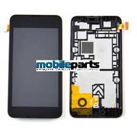 Оригинальный Дисплей (Модуль)+Сенсор (Тачскрин) для Nokia Lumia 530 (С рамкой) (Черный)
