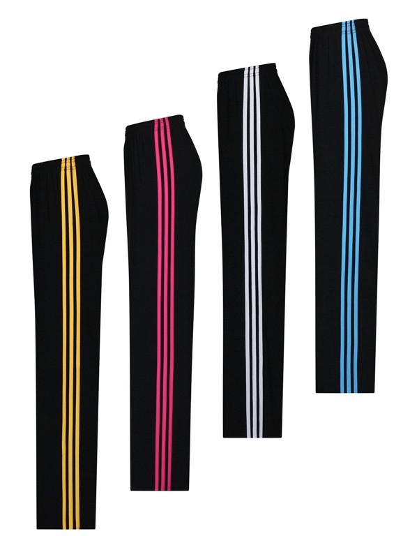 Женские спортивные штаны Три полоски - размеры от 46 по 64 - классика - поливискоза