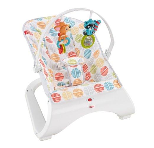 Шезлонг детский вибро кресло качалка Комфорт Fisher-Price Comfort Curve Bouncer CFB88