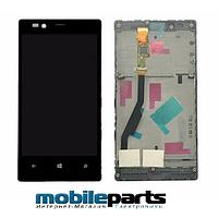 Оригинальный Дисплей (Модуль)+Сенсор (Тачскрин) для Nokia Lumia 720 (С рамкой) (Черный)