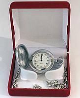Кварцевые карманные  часы Чайка