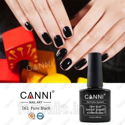 Гель-лак Canni 161 (черный), 7.3 мл