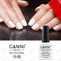 Гель-лак Canni 023 (Белый), 7.3 мл