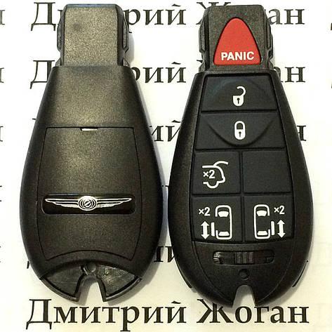 Корпус смарт ключа Chrysler (Крайслер) 5 кнопки + 1 (panic), фото 2