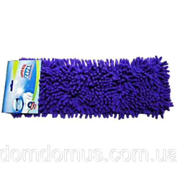 Насадка для швабри натирача мікрофібра з ворсом, фіолетова