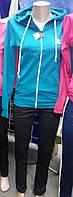 Женский спортивный костюм капюшон-трикотаж