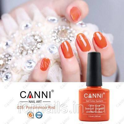 Гель-лак Canni 026, 7.3 мл