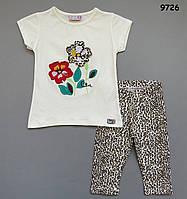 Летний костюм для девочки. 1-2;  3-4;  5-6;  7-8 лет