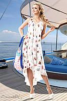 Шифоновое асимметричное платье для пляжа 42-48 размеры, фото 1