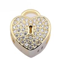 Шарм для браслета Пандора (Pandora) «Золотое сердце»