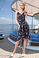 Шифонова асиметричне плаття для пляжу 42-48 розміри, фото 1