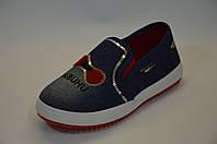 Мокасини дитячі джинсові 31-36, фото 1