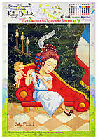 """Рисунок - схема для вышивания бисером """"Прекрасная Жозефина"""" (диптих)"""