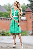 Красивое летнее платье с юбкой клеш из штапеля 44-50 размеры, фото 1