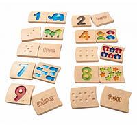 """Деревянная игрушка """"Цифры 1-10 (градиент)"""", PlanToys"""
