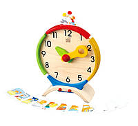 """Деревянная игрушка """"Обучающие часы"""", PlanToys"""
