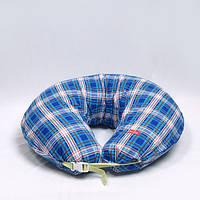 Подушка фланель. Синяя клетка