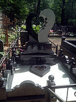 Эксклюзивный надгробный памятник в форме сердца