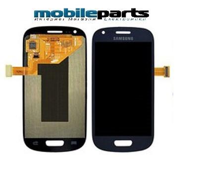 Оригинальный Дисплей (Модуль) + Сенсор (Тачскрин) для Samsung i8190 | Galaxy S3 Mini (С Рамкой) (Синий)