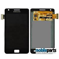 Оригинальный Дисплей (Модуль) + Сенсор (Тачскрин) для Samsung i9100 | Galaxy S2 (С рамкой) (Черный)