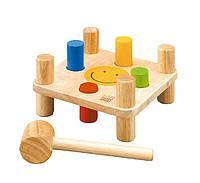 """Деревянная игрушка """"Молоток и колышки"""", PlanToys"""