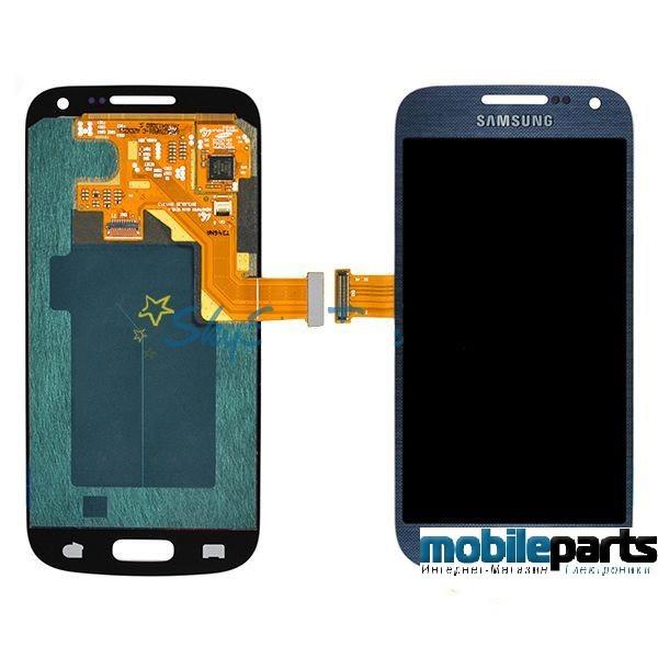 Оригинальный Дисплей (Модуль) + Сенсор (Тачскрин) для Samsung i9190 | Galaxy S4 Mini (С рамкой) (Синий)