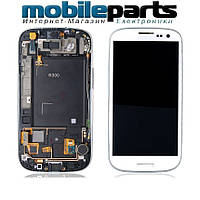 Оригинальный Модуль (дисплей+сенсор) для Samsung i9300, Galaxy S3 + Рамка (Черный)