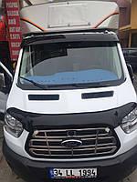Ford Transit 2014+ гг. Козырек на лобовое стекло (на кронштейнах)