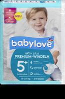 Babylove Windeln Premium aktiv plus Größe 5+, juniorplus 13-27kg - Детские подгузники 5+, 13-27 кг, 34 шт.