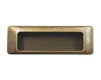 Ручка врезная мебельная современная классика URB-16-94 античная бронза 128 мм, фото 1