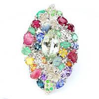 Крупное Эксклюзивное Дизайнерское Кольцо с натуральными камнями, фото 1