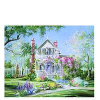 Картина 40x50. Роспись по номерам на холсте Волшебный сад