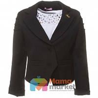 Школьный шерстяной пиджак для девочки Suzie Лаура цвет черный