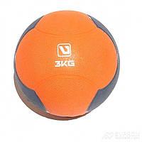 Медбол LiveUp Medicine Ball, диам. 21,6 см, серо-оранжевый