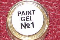 Гель краска для ногтей  SP 001 ярко белая