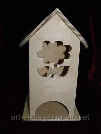 Коробка для чайных пакетиков Цветочек (10 х 10 х 23 см), фото 2