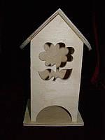 Коробка для чайных пакетиков Цветочек (10 х 10 х 23 см)