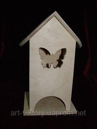 Коробка для чайных пакетиков Бабочка (10 х 10 х 23 см), фото 2