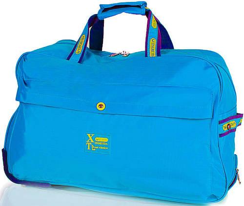 Большая голубая дорожная сумка для на 2-х колесах XINGRUIDA DS0988-5, 60 л.