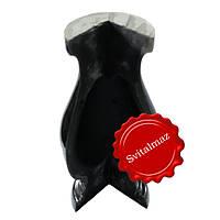 Полимерные и пластиковые круглые уголки Н30 см. чёрного глянцевого цвета для ритуальных памятников и надгробий