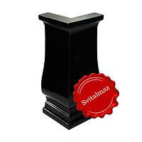 Полимерные и пластиковые уголки Н25 см. чёрного глянцевого цвета для ритуальных памятников и надгробий.