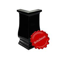 Полимерные и пластиковые уголки Н20 см. чёрного глянцевого цвета для ритуальных памятников и надгробий.