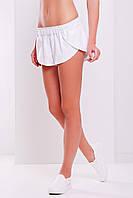 Свободные летние шорты из хлопка белого цвета