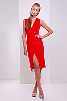 Женское платье-жилет на лето красного цвета