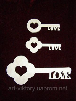 Ключики (набор 3 шт), декор, фото 2