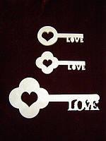 Ключики (набор 3 шт), декор