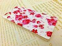 TPU чехол для Huawei P8 LITE розовые цветы