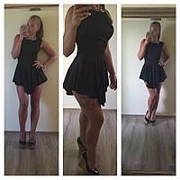 Платье по колено розочка