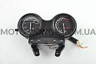 Панель приборов (в сборе) на мотоцикл   Yamaha YBR-125   (140км/ч, с тахометром, черная)