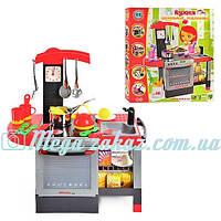 Детская кухня с плитой и духовкой 011: мойка, посуда + аксессуары, свет/звук эффекты